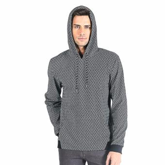 Harga OXYGEN Jacquard Pullover Hoodie (Gray)
