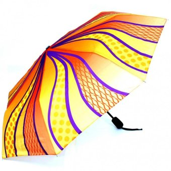 Harga London Fashion Von Alternation Design Windproof Automatic Compact Umbrella (Orange)