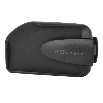 Harga EDCGEAR Double Sides ABS Money Card Holder w/ Clip for Mountaineering / Traveling - Black - intl