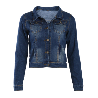 WomenDeni hort Jackset Caua i Pockset Button Jean Coat Price Philippines
