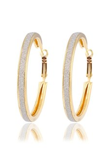 Plated Big Circle Hoop Earrings (Gold) Price Philippines