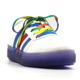 Harga New York Sneakers Cali Low Cut Shoes(WHITE/VIOLET)