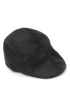 Fancyqube Men Newsboy Cap Hat Gatsby Flat Ivy Golf Cabbie Baker Beret Artist Black Price Philippines