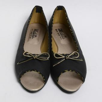 Harga Access Open Toe Flats (Black)