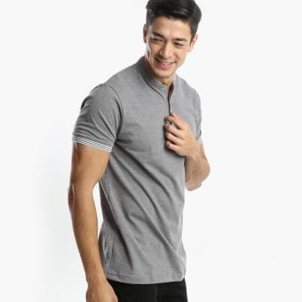 Harga Men's Club Mens Pique Henley Tee (Black)