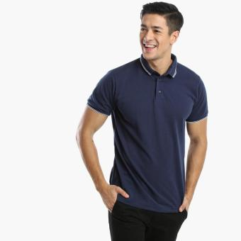 Harga Men's Club Mens Pique Polo Shirt (Navy)
