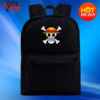 One Piece Straw Hat Pirate Anime Unisex Everyday Backpack (Black) Price Philippines