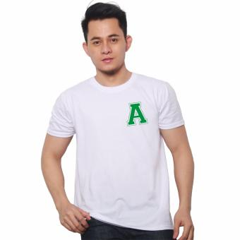 T-shirt ni Juan Pocket Letter A (White Green) Price Philippines