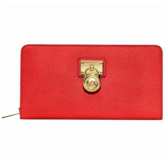 MICHAEL KORS HAMILTON LARGE ZIP AROUND Wallet RED Price Philippines