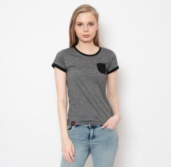 Harga Bum Ladies Black And White Tees (Acid Gray Black)