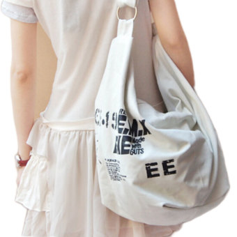 Harga Women Shoulder Bag Retro Handbag Messenger Casual Canvas Original Design Sport Tote High Quality White (Intl)