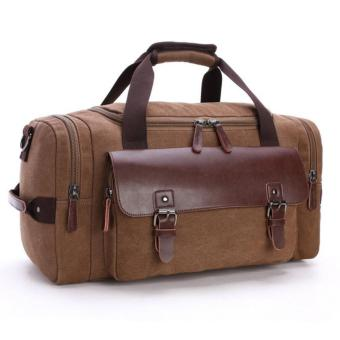 Harga 2 in 1 TRAVEL BAG / SHOULDER / TOTE BAG / CANVASS BAG MG8830 PIERSON [COFFEE]