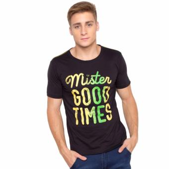 "Newyork Army ""Mister Goodtimes"" Print Round Neck Men's T-shirt - Black Price Philippines"