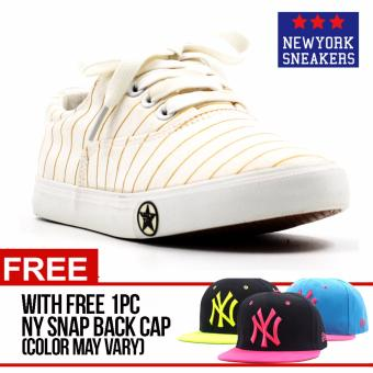 Harga New York Sneakers Emma Low Cut Shoes(WHITE) with FREE NY CAP