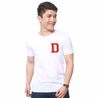 T-shirt ni Juan Pocket Letter D (White Red) Price Philippines