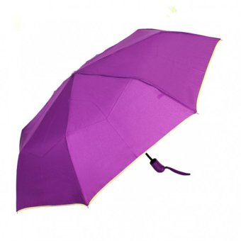 Harga London Fashion SPhil Plain Windproof Automatic Compact Umbrella (Violet)