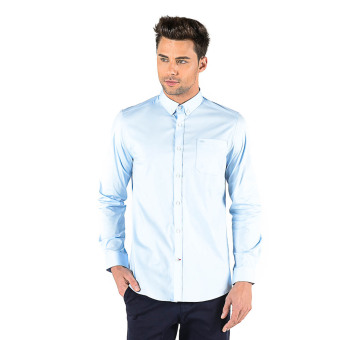 Harga Memo Casual Long Sleeve Essential Solid Shirt (Light Blue)