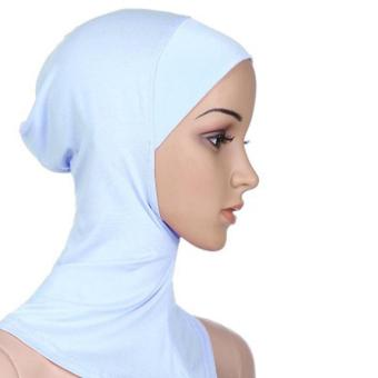 Under Scarf Hat Muslim woman Hijab Islamic Head Wear Neck Cover White - intl Price Philippines