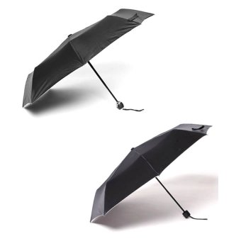 Harga Tokio Auto Open and Close Umbrella and Tokio Windproof Folding Umbrella Set of 2 (Black/Black)