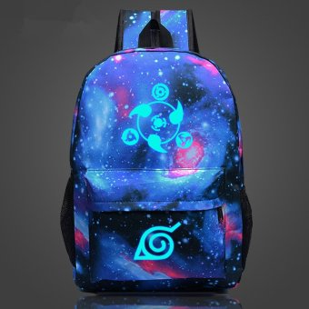 Naruto write round eyes Noctilucent backpack schoolbag Price Philippines