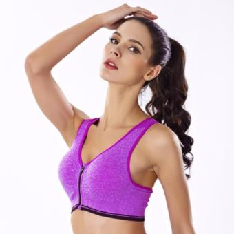 Treeco Fitness Front Zipper Sports Bra (Violet) Price Philippines