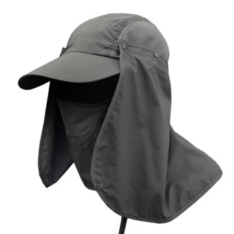 Andux Multifunctional Anti-UV Quick-drying Hat Sun Protection Hat Fishing Hat with Removable Sun Shield and Mask F-DYM-01 - intl Price Philippines