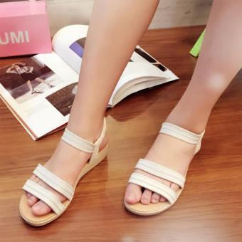 Harga Fantasy Mini Wedge Sandals With Garter Strap 2728 (White)