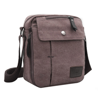 Cyber Men's Canvas Multifunction Travel Satchel Shoulder Bag (Black) Price Philippines
