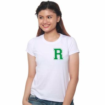 T-shirt ni Juan Pocket Letter R for Female (White/Green) Price Philippines