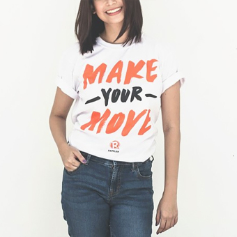 Harga Rappler Xchange Make Your Move Cotton T-Shirt (White)