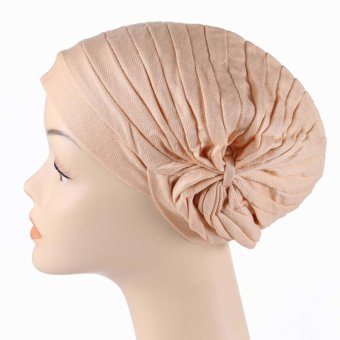 Yashion 168 Pleated Women's Turban Muslim Caps Hijab Hats - Intl Price Philippines
