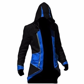 Hequ Assassins s Creed 3 Anime Game Connor Red Black 7 Color To Choose Coat Cos Cosplay Blue(Int:XXL) - intl Price Philippines
