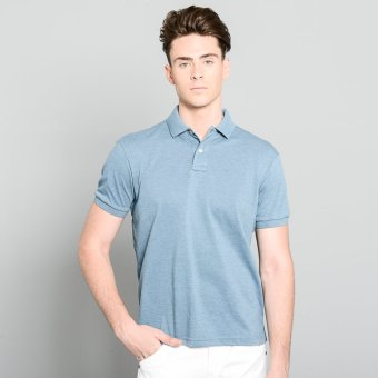 Blued Morgan-17 Men's Plain Polo Tees (Real Teal) Price Philippines