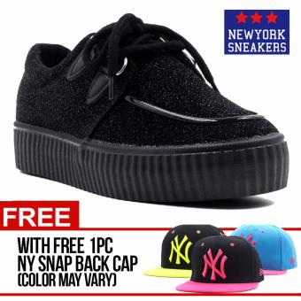 Harga New York Sneakers Riley(BLACK) with FREE NY CAP