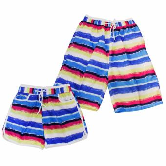 Summer Couple Casual Shorts Beach Wear Swim Wear(Blue/Pink) Price Philippines
