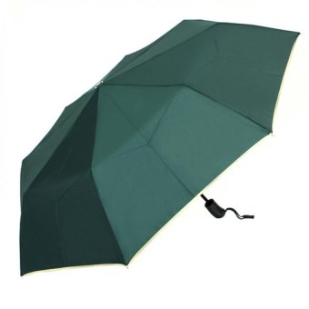 Harga London Fashion SPhil Plain Windproof Automatic Compact Umbrella (Green)