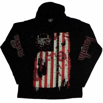 Harga Lamb of God Flag Hoodies (Black)