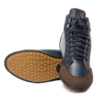 Harga New Fashion Mens Flat Ankle Boots Casual Warm Shoes Lace-up High