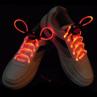 Harga Amart LED Shoe Laces Flash Light Flat Shoelaces Party Shoe Accessories - intl