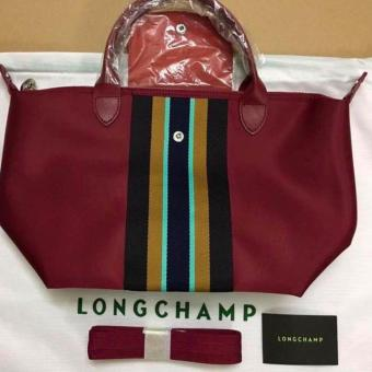 LIMITED EDITION Longchamp Medium Neo Tote Bag (MAROON STRIP) Price Philippines