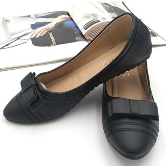Harga Fantasy Mna Ladies Flat Pointed Doll Shoe With Ribbon 986-24 (black)
