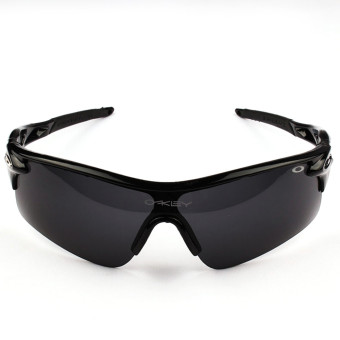 Harga Outdoor cycling glasses and sunglasses black frame+black lens - Intl