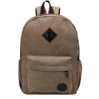 Harga Cyber New Fashion Men Backpack Rucksack Canvas Travel Camping Backpack ( Coffee )(OVERSEAS) - intl