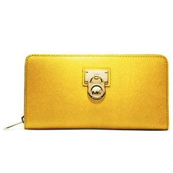 MICHAEL KORS HAMILTON LARGE ZIP AROUND Wallet YELLOW Price Philippines