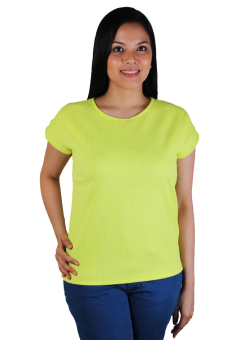 Cotton Republic Emboss Pattern Design Blouse (Yellow) Price Philippines