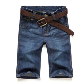 Mens Classic Five-Pocket Jean Short blue - intl Price Philippines