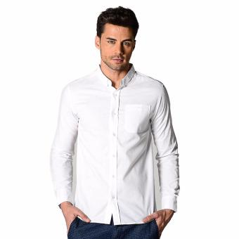 Harga PENSHOPPE All-Day Long-sleeved Button-down Shirt (White)