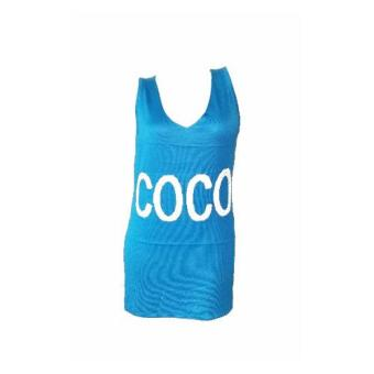 Coco knitted dress sleeveless women (blue) Price Philippines