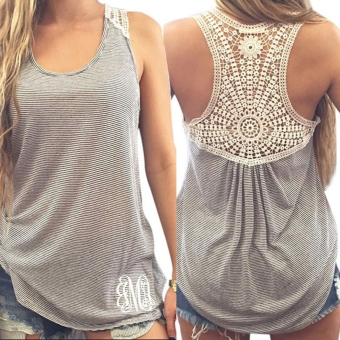 Harga Yidabo New Sexy Women Lace Patchwork Summer Vest Top Blouse Tank Tops T-Shirt - intl