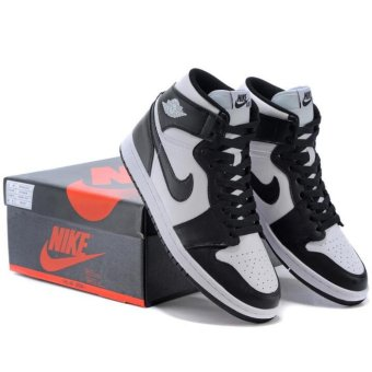 Harga Basketball Shoes for Jordan 1 OG Black White AJ1 - intl